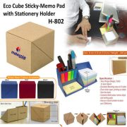 H 802 - Eco cube with Stationery Holder