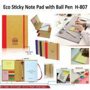 H 807 - Eco Sticky Note Pad