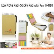 H 810 Eco Note Pad with Pen