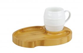 Mug with snack tray