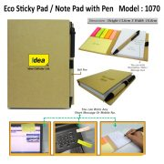 PC 1070 Eco-Sticky-Pad-with-Pen