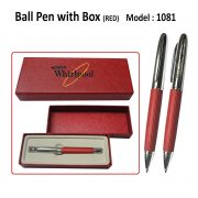 PC-1081-Ball-Pen-with-Box-RED