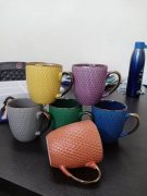 Set of 6 designer mugs