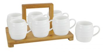 Set of 6 mugs with stand
