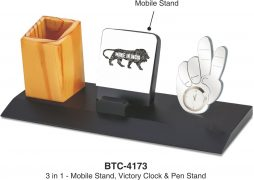 Wooden 3 in 1 desktop BTC 4173
