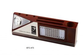 Wooden desktop with timeless calendar BTC 473